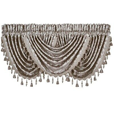$ CDN41.28 • Buy J. Queen New York Sicily Window Valence In Pearl Beautiful Curtain Accents Shine
