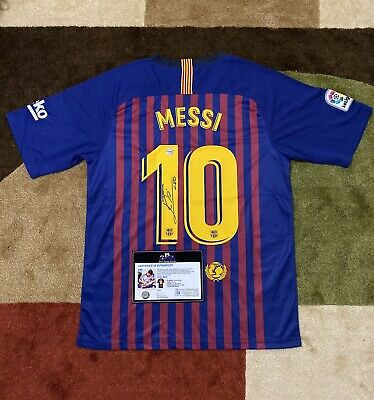 AU516.66 • Buy Leo Messi Signed Jersey (COA Included)