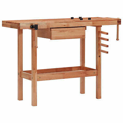 £172.17 • Buy Carpentry Workbench With Drawer And 2 Vices Hardwood G2K0