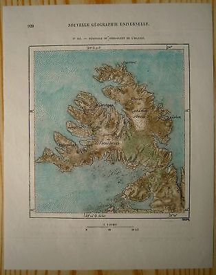 1879 Perron Map: Westfjords, Iceland (#203) • 20.52£
