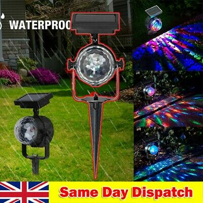 Best Solar Spot Lights LED Colour Changing Projection Stake Garden Light Outdoor • 10.78£