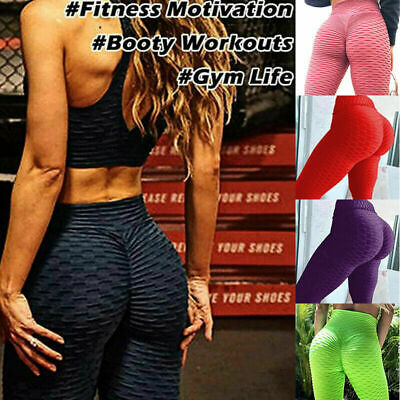 Women's Anti-Cellulite High Waist Yoga Pants Gym Aerie Crossover Tiktok Leggings • 13.19£