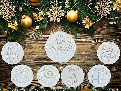 AU9.85 • Buy Merry Christmas Cookie Fondant Embosser Stamp Cutter
