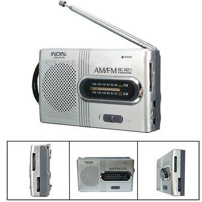 AM FM Battery Operated Mini Portable Pocket Radio Receiver Best Reception JE • 7.60£