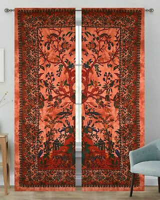Cotton Wall Hanging Drape Valance Door Window Curtain Tapestry Indian Bohemian • 18.54£