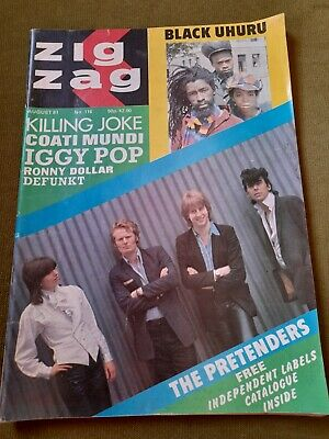 £14.99 • Buy ZIG ZAG MAGAZINE No.116 AUG 1981-PRETENDERS COVER+INDEPENDENT LABELS CATALOGUE