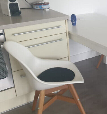 Ikea White Fanbyn Chairs X3 With Seat Pad, Excellent Condition, RRP £60 Each • 100£