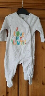 NEW I Love My Auntie Sleepsuit…washed But Never Worn…Blue Zoo…0 To 3 Months… • 2£