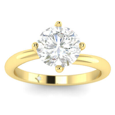 AU5049.03 • Buy 1ct D-VS2 Diamond Twist Engagement Ring 14K Yellow Gold ANY SIZE