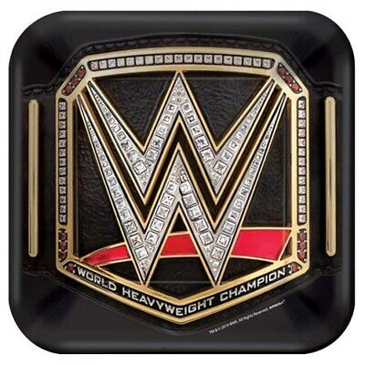 WWE WRESTLING SMASH SMALL PAPER PLATES (8) ~Birthday Party Supplies Cake Dessert • 2.85£