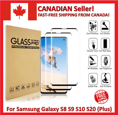 $ CDN4.95 • Buy For Samsung Galaxy S8 S9 S10 S10 S20 Plus Tempered Glass Curve Screen Protector