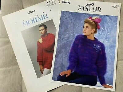 Lister Ladies Mohair Long Sleeve Jumper Knitting Patterns Used Condition • 0.99£