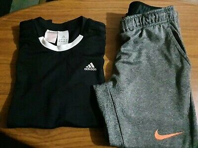 Boys Adidas Top And Nike Track Pant Size 10/12 • 11£