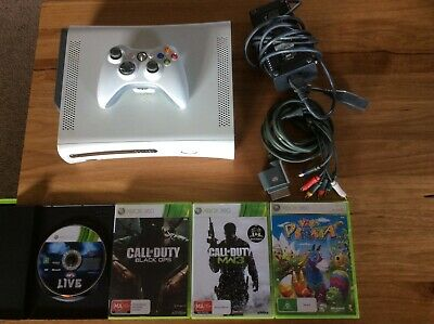 AU89.99 • Buy Xbox 360 60GB White Console Bundle - Console + Controller + 4 Awesome Games