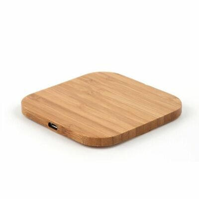 Portable Qi Wireless Charger Charging Slim Wood Pad For IPhone 8/iPhone 8 Plus/i • 8.65£