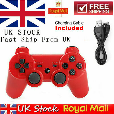 UK HOT RED PS3 Bluetooth Wireless Controller Control For Playstation 3 • 9.39£