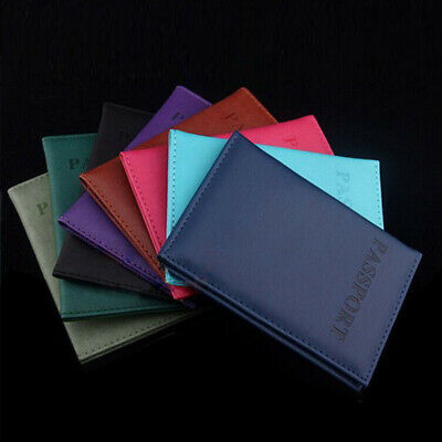 AU3.54 • Buy Men Wallet PU Leather Passport Credit Card Business ID Holder Travel Accessories