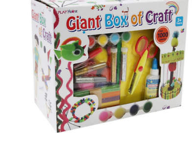 Kids 1000 Pieces Giant Arts And Crafts Box Set Kit Children Gift Boys Girls Toys • 14.49£