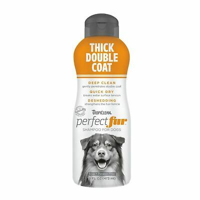 £13 • Buy TropiClean Thick Double Coat Dog Shampoo Deep Clean Quick Dry Deshedding 473ml