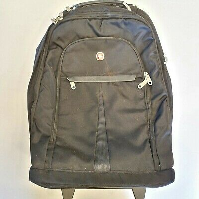 Swiss Army Swiss Gear Large Backpack Padded Laptop Bag Compartments Grey Black • 42.85£