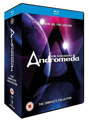 Andromeda: The Complete Collection - Seasons 1 2 3 4 5 [Blu-ray Set Region Free] • 82.15£