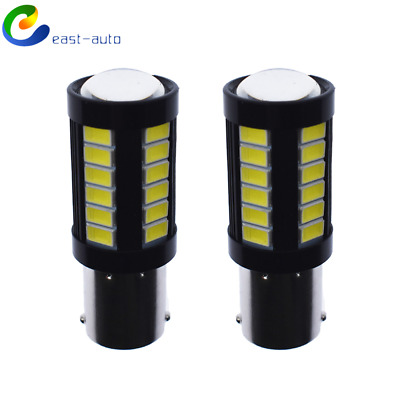 $8.55 • Buy 2X 1156 3014 High Power 6000K White 33 SMD Tail Brake Stop LED Lights Bulbs New