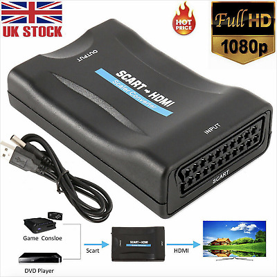 £7.59 • Buy SCART To HDMI Composite 1080P Video Scaler Converter Audio Adapter For DVD TV UK