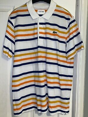 Men's Striped Lacoste Polo, Percect Condition, Fits A Large • 40£