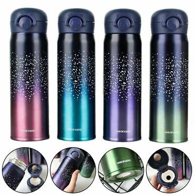 AU21.26 • Buy 500ml Stainless Steel Vacuum Cup Thermos Flask Travel Water Bottle Cup Mugs