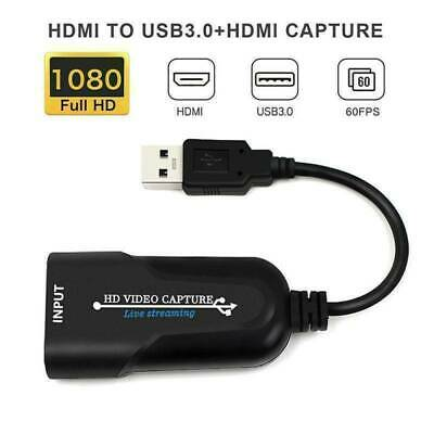 HDMI To USB 3.0 Port Video Capture Card 4K 1080P 60fps Record For Live Streaming • 8.99£