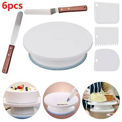 £7.99 • Buy Cake Decorating Turntable 11-24  Icing Nozzles-Mould-Pen-Spatula-Bags-Tools Set