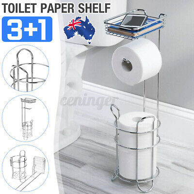 AU27.79 • Buy Stainless Steel Toilet Paper Shelf Tissue Rack Holder Roll Stand Storage Home  !