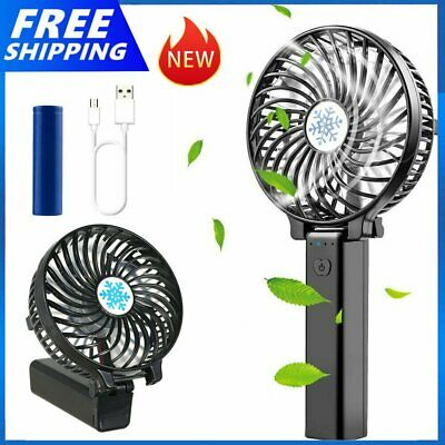 AU6.99 • Buy Mini Hand-held Small Folding Desk Fan Cooler Cooling USB Rechargeable Portable
