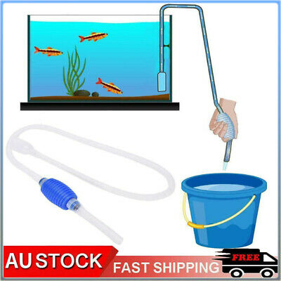 AU8.99 • Buy Fish Tank Aquarium Gravel Cleaner Syphon Vacuum Water Changer Pump Siphon Hose
