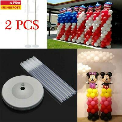 AU15.99 • Buy 2X Plastic Balloon Arch Column Stand With Base Set Wedding Birthday Party Decor