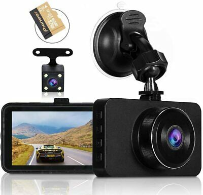 AU83.77 • Buy  Dash Cams For Cars Front And Rear Full HD Night Vision 1080P Car Dash Camera, 3
