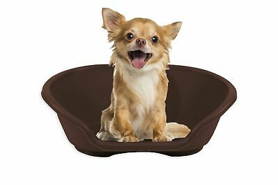 SMALL Plastic Pet Bed Dog Bed Heavy Duty Waterproof Puppy Cat Cushion Basket  • 7.90£
