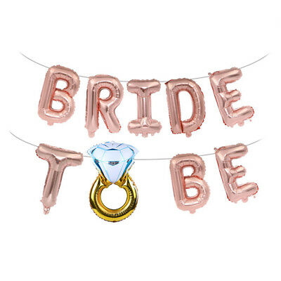 AU5.71 • Buy 16'' Bride To Be Letter Foil Balloons Diamond Ring Balloon For Wedding Party.❤❤