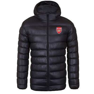 £49.99 • Buy Arsenal FC Mens Jacket Hooded Winter Quilted OFFICIAL Football Gift