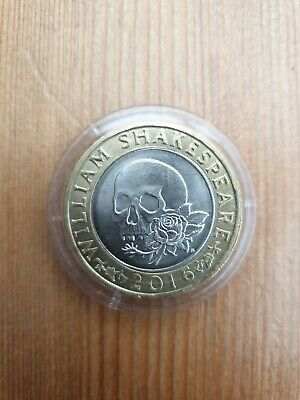 2 Pound Coin £2 Coin William Shakespeare Macbeth Rose And Skull 2016 Tragedies  • 0.90£