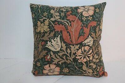 "Wm Morris Compton Vintage 16"" Cushion Cover- See Both Sides Lovely Combination • 9.99£"