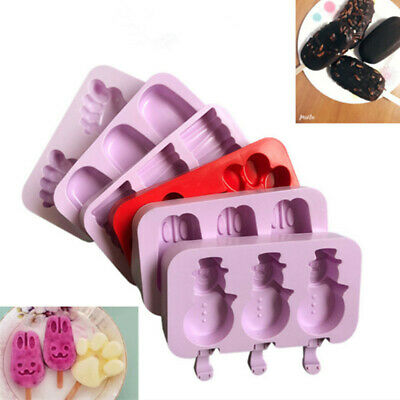 Frozen Ice Cream Pop Mold Kitchen Popsicle Maker Lolly Cake Mould Tray Pan Tool • 4.32£