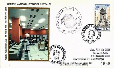 AU0.32 • Buy Dr Jim Stamps Space Argos Processing Center Noaa Nasa France Cover