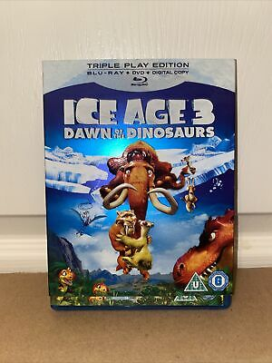 Ice Age 3 - Dawn Of The Dinosaurs (Blu-ray, 2009) With Activity Sticker Book • 1.49£