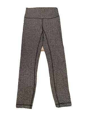 $ CDN19.02 • Buy Lululemon Grey/Black Womens Leggings Zigzag Design Size 4 ##