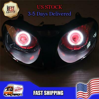 $259.99 • Buy NT Front Headlight Red Angel Eye Fit For Kawasaki 2000-2002 ZX6R 636 Q014