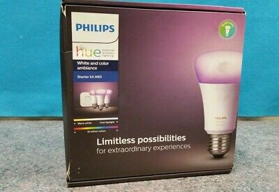 AU199 • Buy Philips Hue White And Color A60 B22 Starter Kit - Free Post