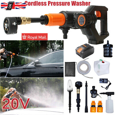 £79.99 • Buy Portable Cordless Electric Pressure Washer Water Jet Wash Patio Car Cleaner UK--