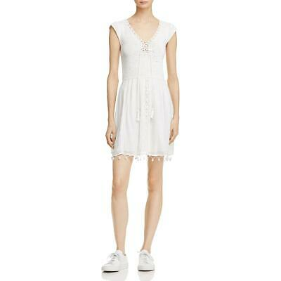 AU41.32 • Buy Joie Womens White Special Occasion Fit & Flare Crochet Party Dress XS  9547
