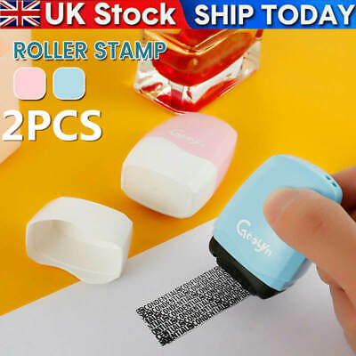 2Pcs Identity Theft Protection Roller Stamp Privacy Confidential Guard Your ID • 6.99£